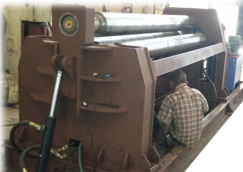 Plate Bending Machine Repairing